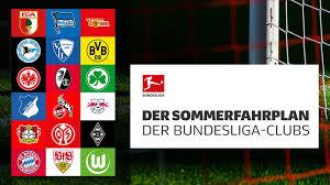 Bundesliga, is a professional association football league in germany. Bundesliga Sommerfahrplan Der Bundesliga Clubs 2021 22