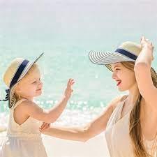 PANAMA Nón Cối Phối Nơ Thời Trang Đi Biển Cho Mẹ Và Bé giá cạnh tranh