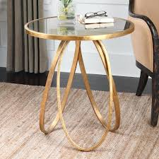 side tables round gold side table living room and glass coffee transpa inside metal design