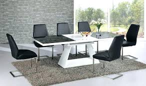 black and white dining room table set white high gloss kitchen table and chairs chair decorative