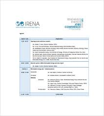 Conference Agenda Awesome Conference Agenda Template 48 Free Word Excel PDF Format