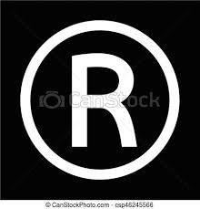 Registered Symbol Registered Trademark Icon Vector Illustration