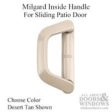 milgard inside handle classic vinyl sliding door choose color