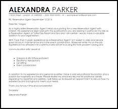 Reservation Agent Cover Letter Sample Livecareer Design Inspiration