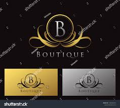 Luxury B B Lake District Grand Designs Gold B Letter Luxury Boutique Heraldic Stock Vector Royalty
