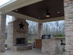 covered patio designs with fireplace. Outdoor Patios Modest Covered Patio With Fireplace Plus Pictures Designs