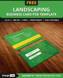 landscaping templates free free landscaping business card template psd designyep
