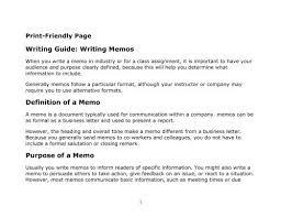 Memo Proposal Format Writing Guide Writing Memos Definition Of A Memo Purpose