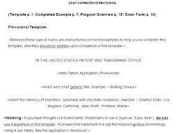 Patent Document Template Provisional Application Awesome