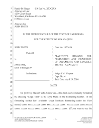 Pleadings Paper California Pleading Template For Google Docs The Droid Lawyer