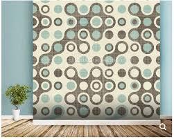Custom Abstract Behang Blauw Bruin Retro Patroon Art Fresco Voor