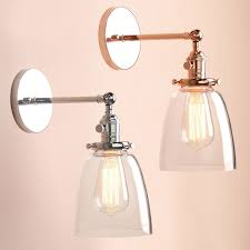 replacement glass lamp shades for wall lights industia vintage