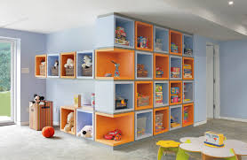 Kids room, Wall Of Cubes Childrens Bedroom Storage Ideas Kids Room Storage:  New contemporary ...