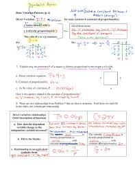 Direct Variation Chart Basic Variation Patterns P 6 Direct Variation ______ Or