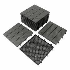composite interlocking deck tiles 12x12