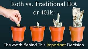 Traditional Versus Roth Ira Comparison Chart Roth Ira Vs Traditional Ira Vs 401k The Math Behind This