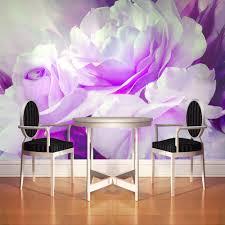 Purple Flower Wallpaper For Bedroom Online Get Cheap Wall Painting Floral Wallpaper Aliexpresscom