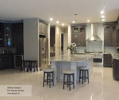 ... Gray Cabinets With An Off White Kitchen Island