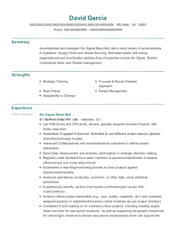 Eastman Chemical Company Six Sigma Black Belt Resume Sample ...