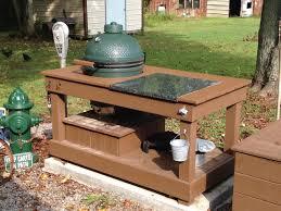 big green egg outdoor kitchen design outofhome large bbq garden storage