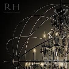 3d models ceiling light foucault 39 s orb smoke crystal chandelier 60