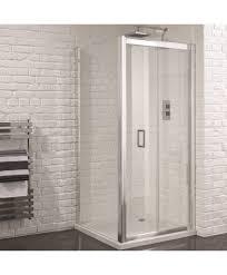 aquadart venturi 6 1000mm x 800mm frameless bifold door shower enclosure and shower tray includes free shower tray waste
