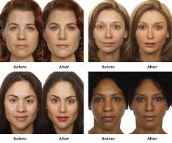 blush before and after. i *think* if it\u0027s done right you mainly notice the woman looks more attractive and professional. these may be a little overdone, but it illustrates blush before after
