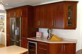 modern cherry kitchen cabinets black and white