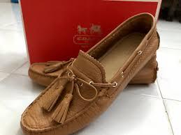 coach nadia pebble grain leather loafers women s fashion shoes on carou