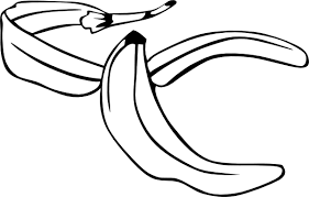 banana clipart black and white. download this image as: banana clipart black and white