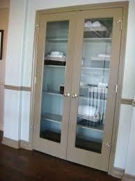 double linen closet doors door shelves