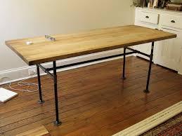 butcher block pipe table