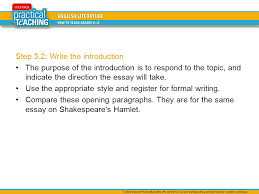 how to write a literature essay the three step process ppt video  step 3 2 write the introduction