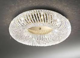 gold 3 light crystal flush ceiling lighting luxury bhs lights full size
