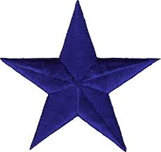 Sew Clothing Embroidered On Blue Star Amazon - Or 3