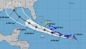 Tropical Storm Laura veers further west ...