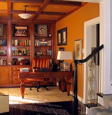 comfortable home office. once a little used dining room this space was redesigned to accommodate comfortable home office reapportionment also allowed for the laundry p