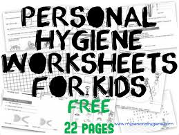 Personal Hygiene Worksheets For Kids | Personal Hygiene