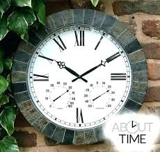 outdoor wall clock and thermometer sets large outdoor clock outdoor outdoor wall thermometer outdoor clock thermometer