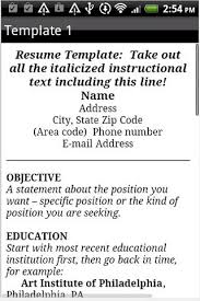 resume format   android apps on google playresume format  screenshot
