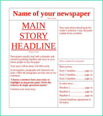 Free Newspaper Template Psd Best Free Newspaper Template Word Of 11 News Paper Templates Word