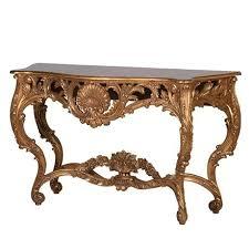 antique reion gold console table