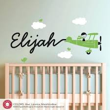 baby nursery wall decal airplane animation baby boy nursery wall decals initial named baby nursery wall baby nursery wall decal