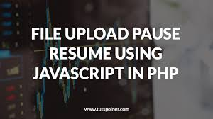 File Upload Pause Resume Using Javascript In Php Example Tutspointer