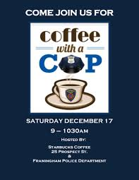 Coffee With A Cop Flyer City Of Framingham Ma Official Website