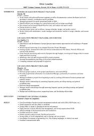 Localization Project Manager Resume Samples | Velvet Jobs
