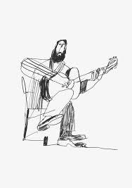 Guitar Man Art Inspiration In 2019 Illustration Art Art