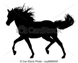 running horse clipart black and white. Fine White Running Horse  Csp6856040 Inside Clipart Black And White