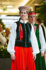In latvian tradition once woman