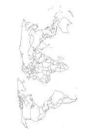Blank World Map Black And White Coloring Page With Free Printable